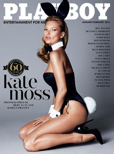 Kate Moss byMert Alas & Marcus Piggottfor Playboy's 60th Anniversary Issue