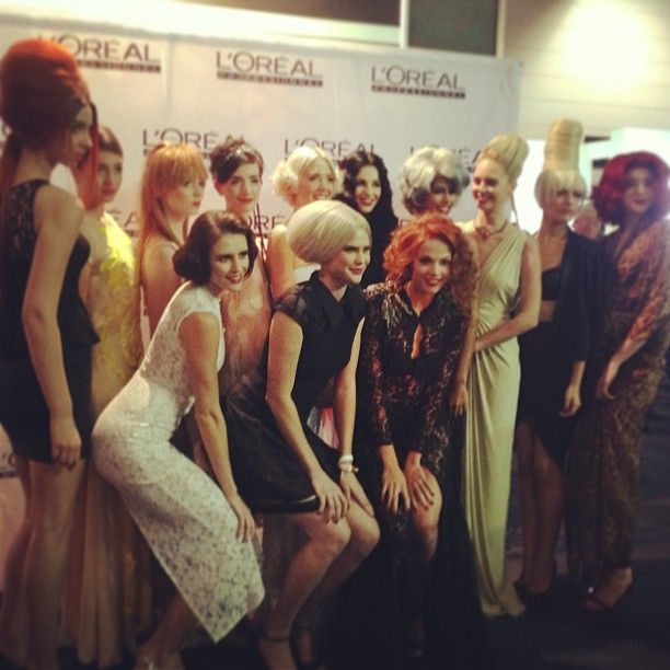 L'Oreal Professionnel models from our gala night