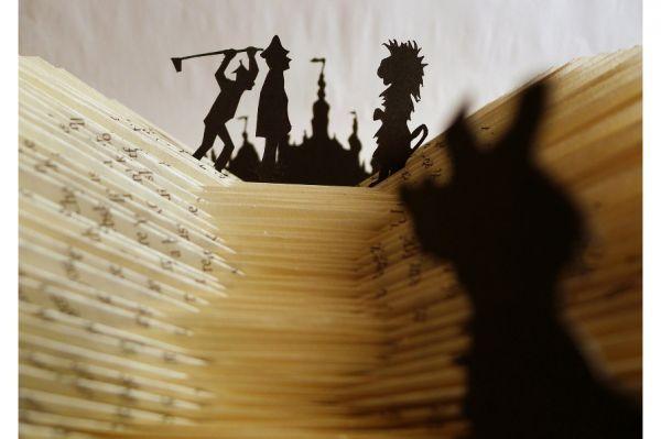 Wizard of Oz book sculpture by Helen Baker