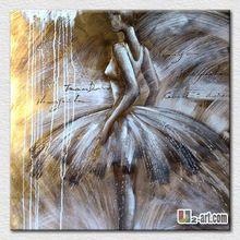 Elegante pintura a óleo pintado sobre tela para quarto menina da arte agradável parede para namoradas(China (Mainland))