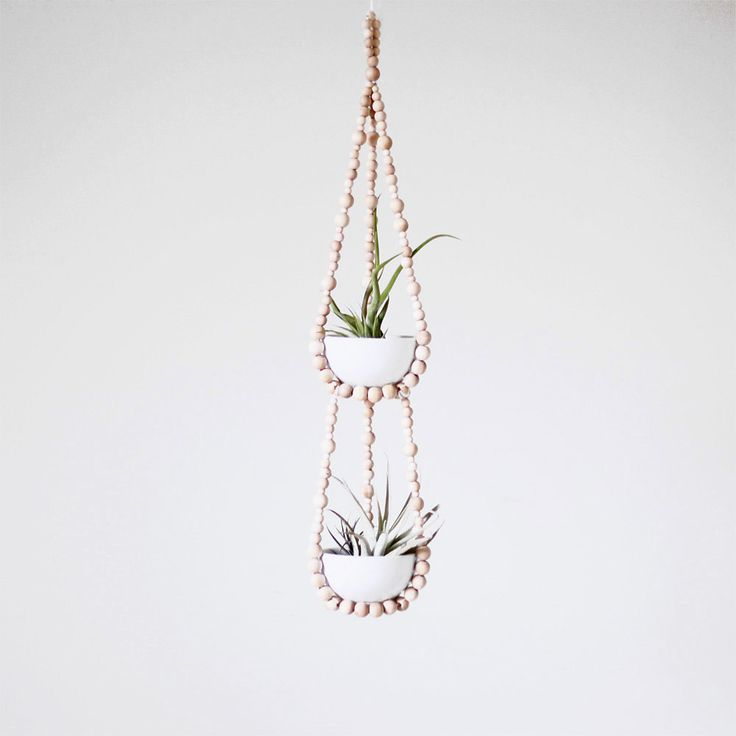 tiered small beaded plant hanger