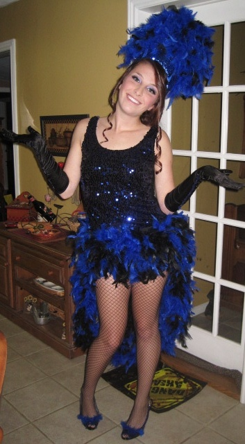 Best 25 burlesque costumes ideas on pinterest burlesque glam up a leotard and add feathers find this pin and more on halloween by shabonkadonk diy showgirl costume solutioingenieria Choice Image
