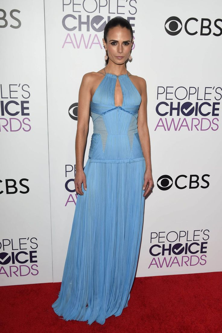 Jordana Brewster in J. Mendel at 2017 People's Choice Awards in Los Angeles