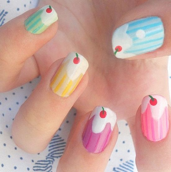 64 best cupcake nails images on pinterest | cupcake nail art