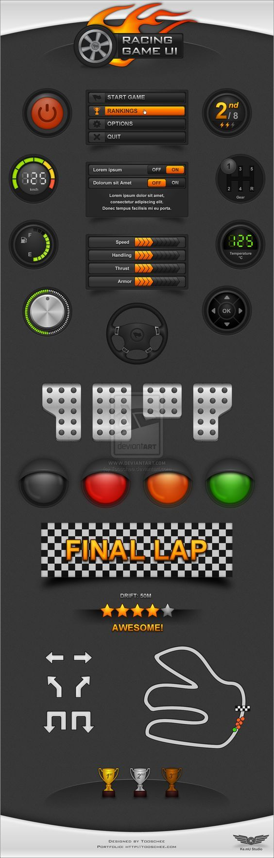 Racing Game UI by ~T...: