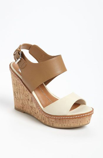 DV by Dolce Vita Jonee Sandal (Nordstrom Exclusive) available at #Nordstrom. Wear with a maxi dress, knee-length skirt, shirt dress, trouser jeans, cropped jeans. The cork heel is perfect for that summer look!