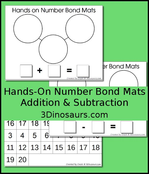 Hands On Number Bond Mats Addition And Subtraction With