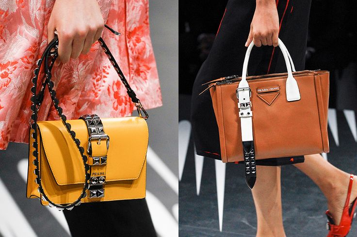 What do you think about Prada's next release; the studded flap bag and belt tote? See more here...