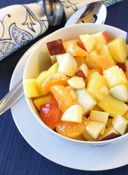 Nice way to have fruit on hand in winter - apples and pears stayed crisp for several days without browning