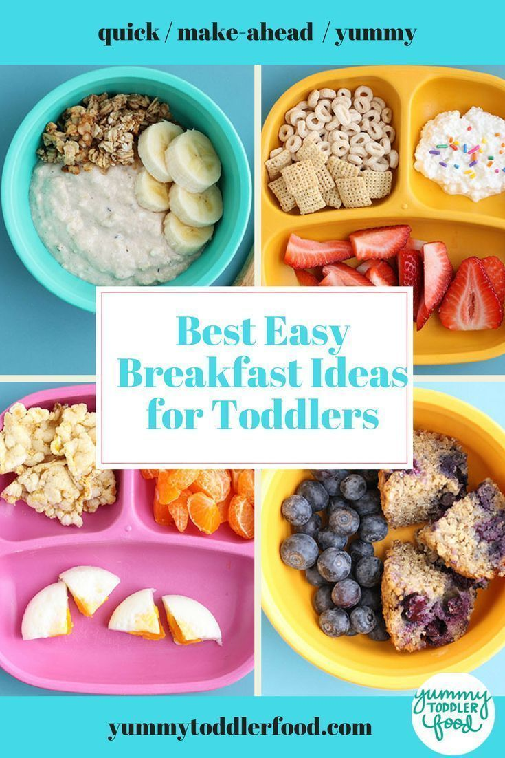 Serve Nutritious Breakfasts On Even Busy Mornings With These Quick And Easy And Make Ahead Id Healthy Toddler Breakfast Toddler Breakfast Breakfast For Kids