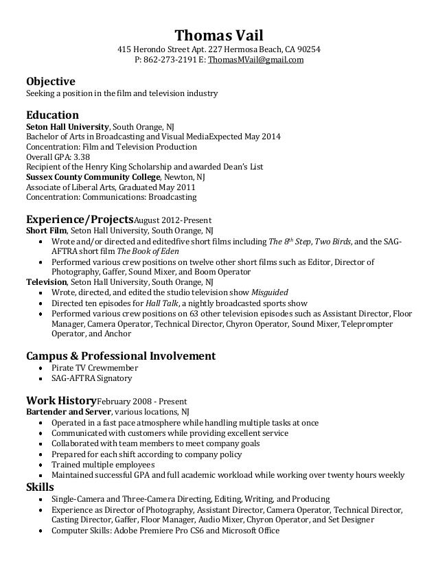 The 25+ best Sample of resume ideas on Pinterest Sample of - tv production manager resume