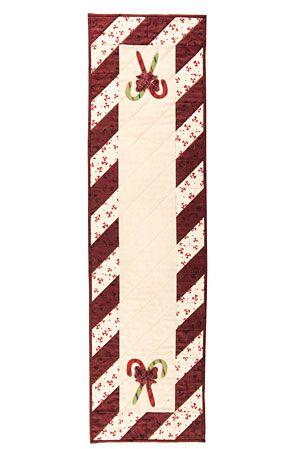 Peppermint Table Runner   Free Pattern Download from Connecting Threads plus 164 others to choose from