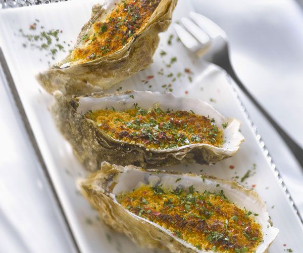 huîtres gratinées en persillade
