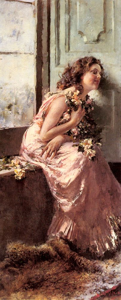 Vincenzo Irolli (1860-1942) Rêverie  Inspiration............