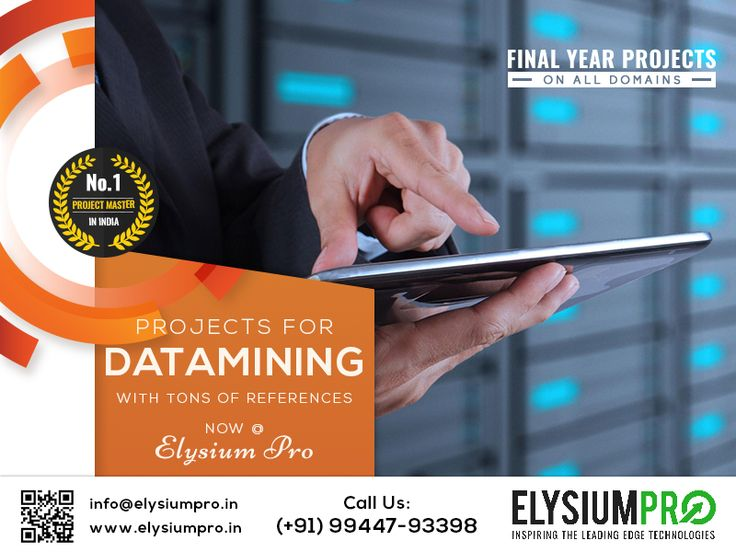 #ElysiumPro #FinalYearProjects #IEEEFinalYearProjects #EngineeringProjects #ProjectTraining Get latest Datamining Project ideas @ ElysiumPro
