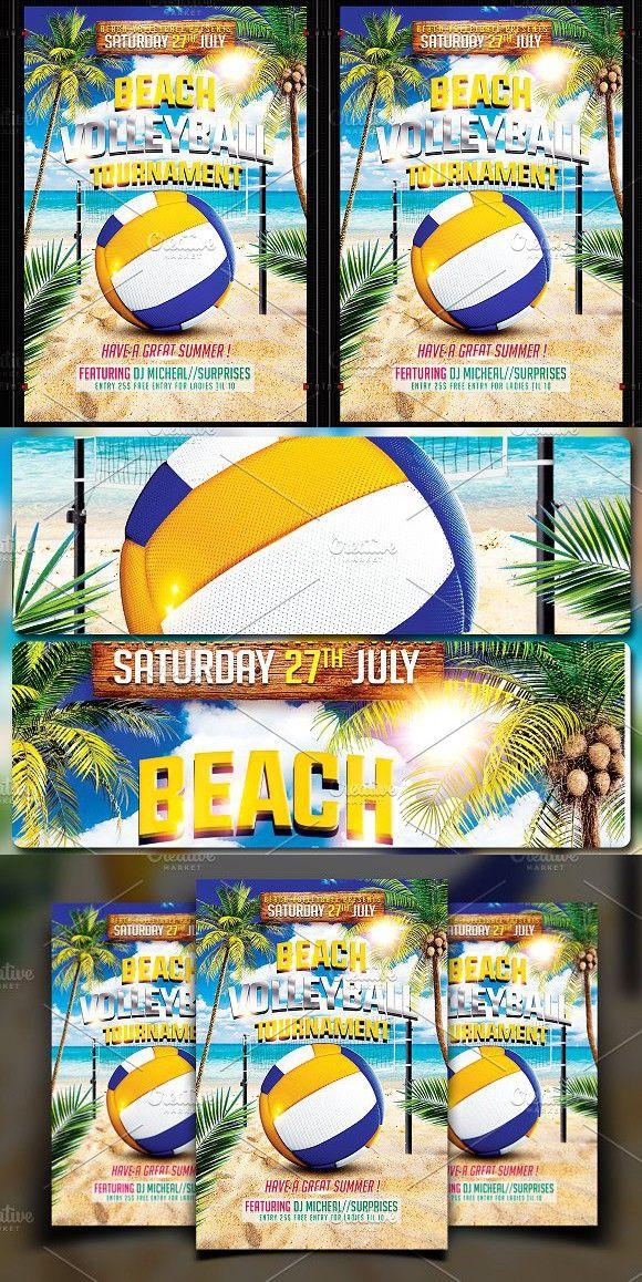 beach volleyball flyer flyer templates pinterest flyer
