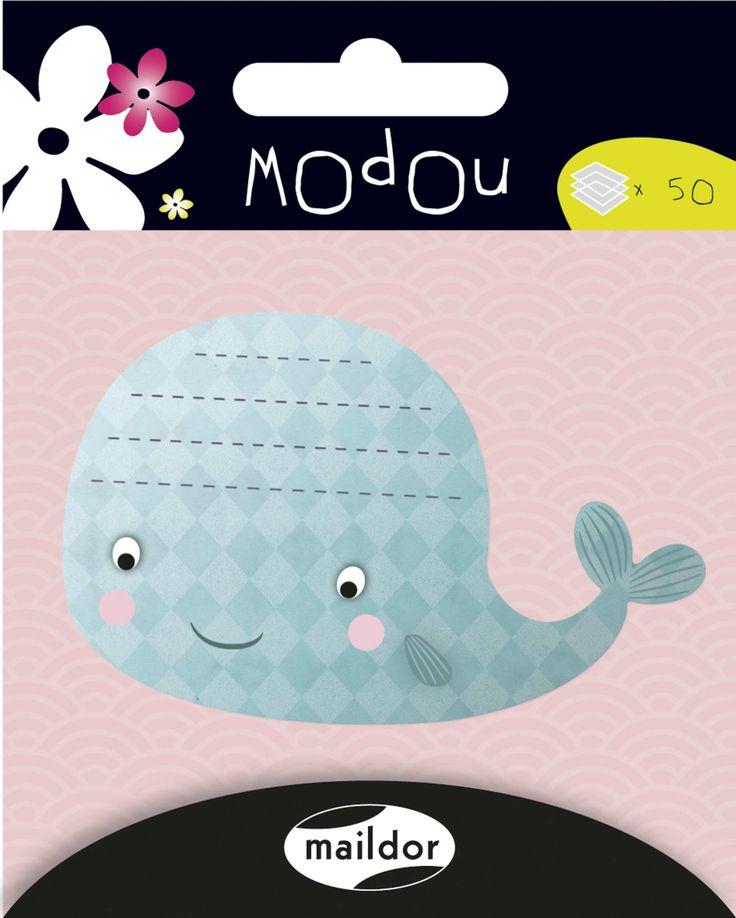 Maildor Modou Yapışkanlı not kağıtları Whale ( 50 yp ) - 560710