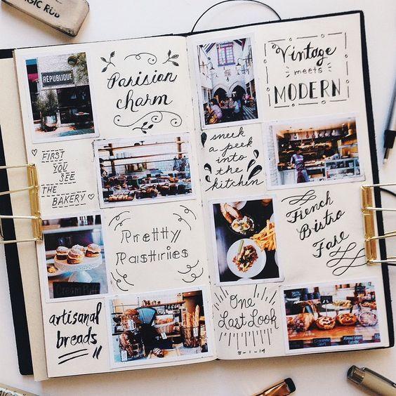 Scrapbooking carnet de voyage, idées pour débutant