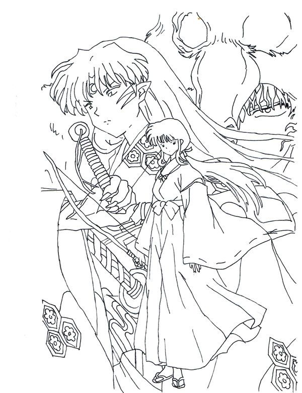 40 best inuyasha coloring pages images on Pinterest | Coloring pages ...