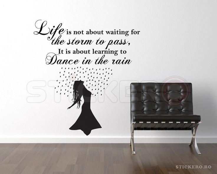 Dancing in the rain - sticker de perete