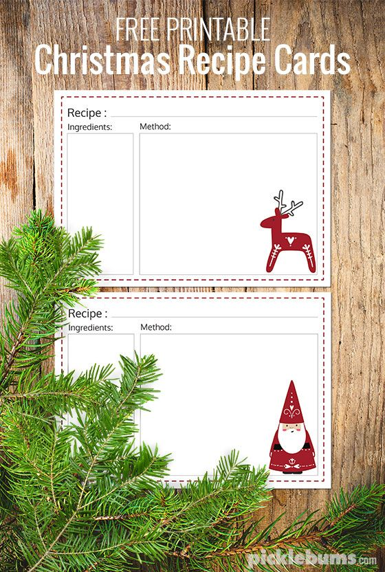 Free printable Christmas recipe cards. | Picklebum http://picklebums.com/ten-delicious-food-gifts-free-printable-recipe-cards/