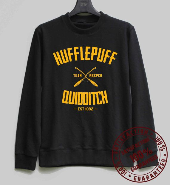 Hufflepuff Quidditch Shirt Harry Potter Sweatshirt Sweater Hoodie Shirt – Size XS S M L XL