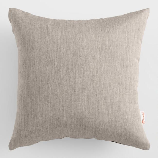 Ash Hand Woven Charcoal Throw Pillow