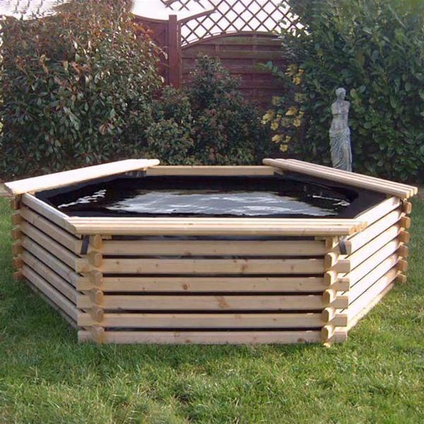 Norlog 300 Gallon Giant Garden Pool With Liner Internet Gardener 295 Raised Pond Ponds Backyard Water Features In The Garden