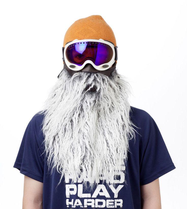 Gray Beard Half Neoprene Face Mask Ski Snowboard Motorcycle Biker Warm Funny