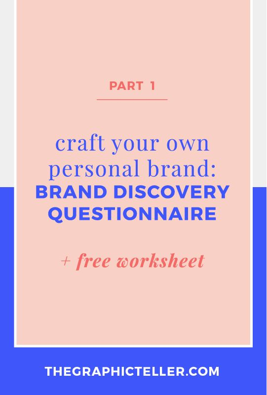 How to craft your own personal brand: the Brand Discovery Questionnaire (+ free worksheet!) | A cohesive and consistent brand is essential to growing your business and audience. Your visual brand identity should reflect your story, who you are in order to speak to those you want to serve. Now