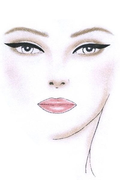 Makeup Drawing: 45 Best Blank Face Chart Images On Pinterest