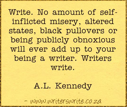 Quotable – A.L. Kennedy - Writers Write