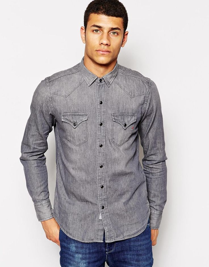 17 best ideas about Denim Shirts For Men on Pinterest | Shirts for ...