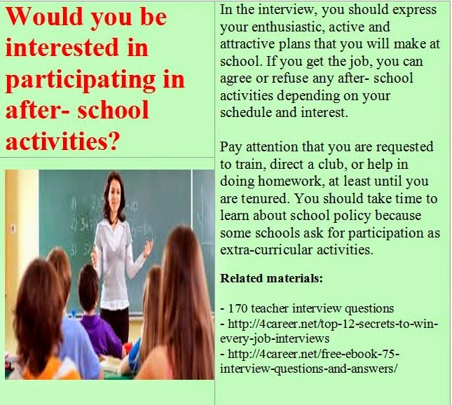 interview teacher and school activities Semi-structured interviews with all student teachers were used to collect the data  while  would be afforded the opportunity to participate in all school activities.