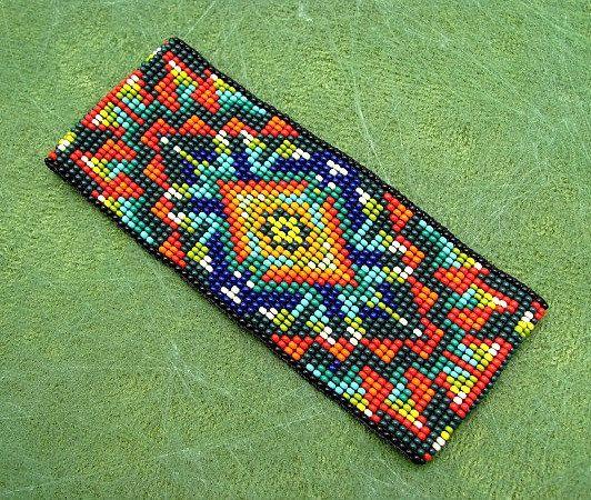 Seed Beaded Bracelet. Beadwork Bracelet by HANWImedicineArt