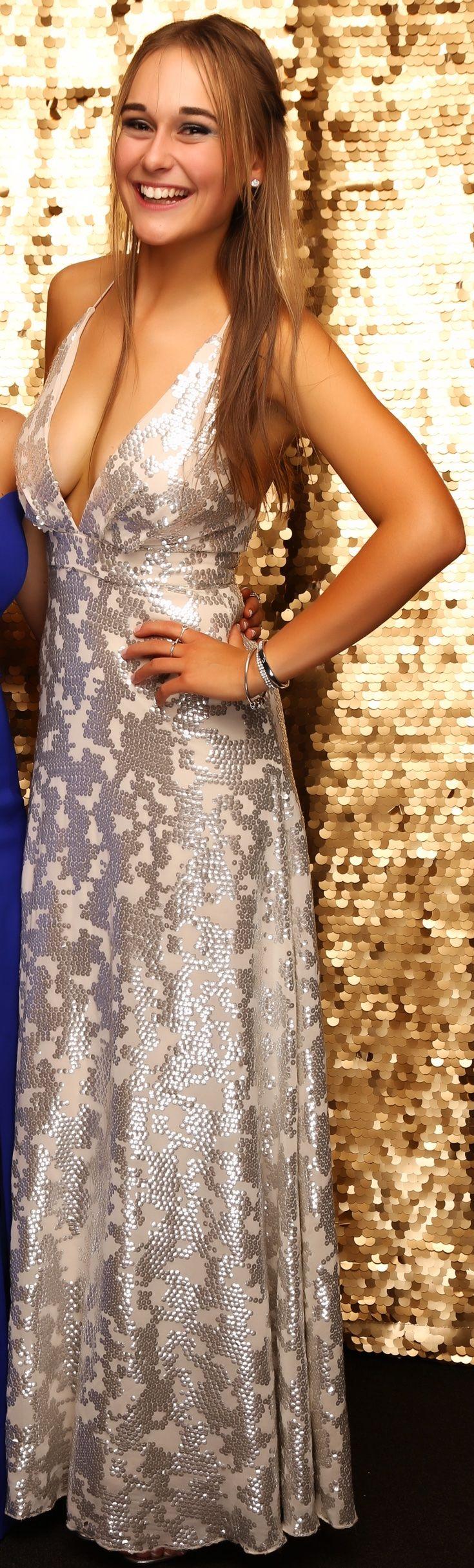 Long Bay Ball 2016. Stunning in silver! www.whitedoor.co.nz