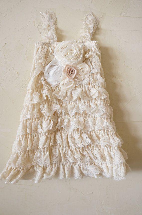 Lace Baby Dress  Ivory Baby Dress  Cream Dress  by PoshPeanutKids, $43.00