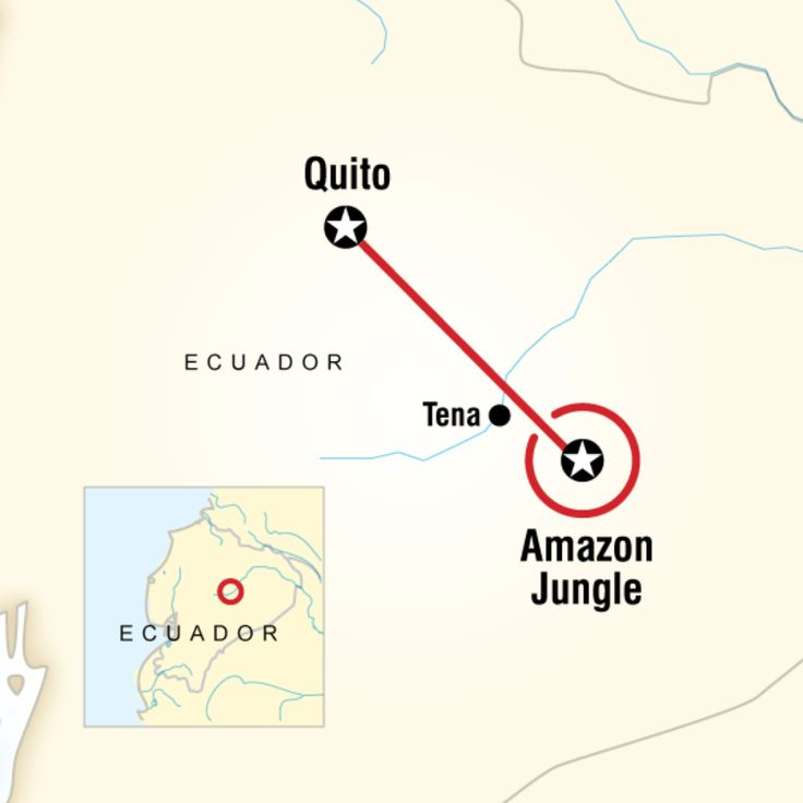 Route map for Local Living Ecuador: Amazon Jungle (SEJL)