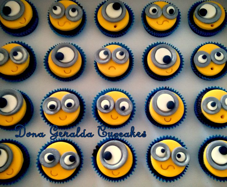 Minions Cupcakes www.facebook.com/donageraldacupcakes