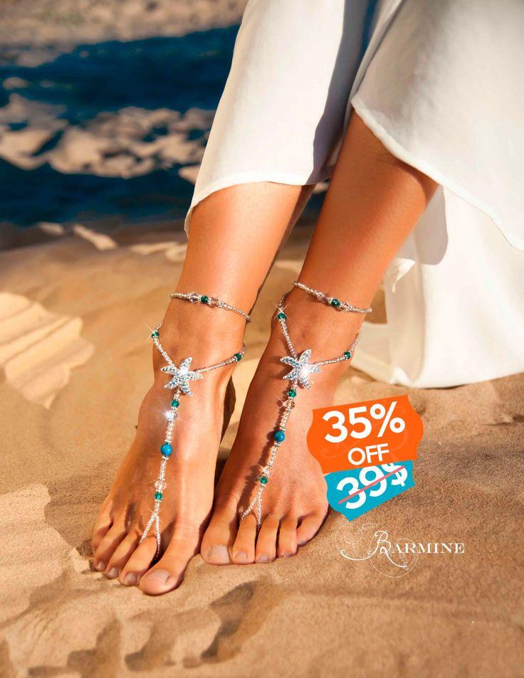 Beach Wedding Footless Sandals Uk