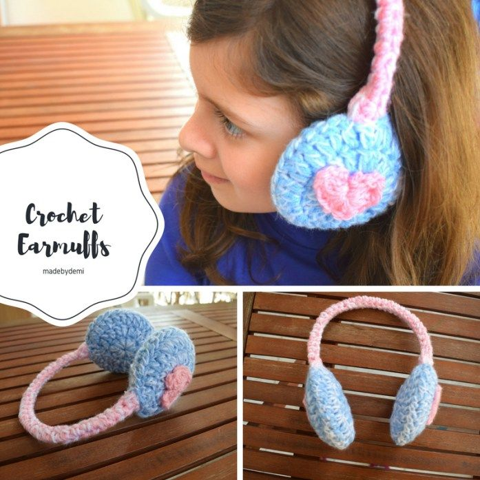How to Crochet Earmuffs {an easy winter crochet project} - made by demi