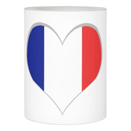 France flag French tricolore flameless candle