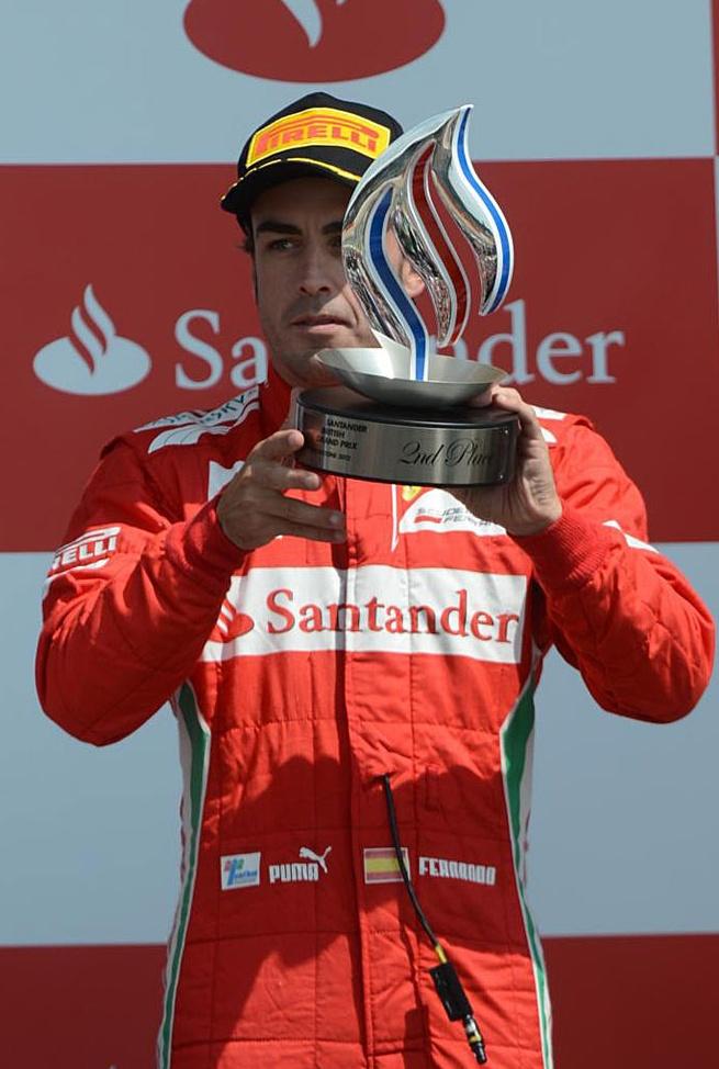Segundo puesto de Alonso en Silverstone, continua como lider con 13 puntos de ventaja sobre Webber.