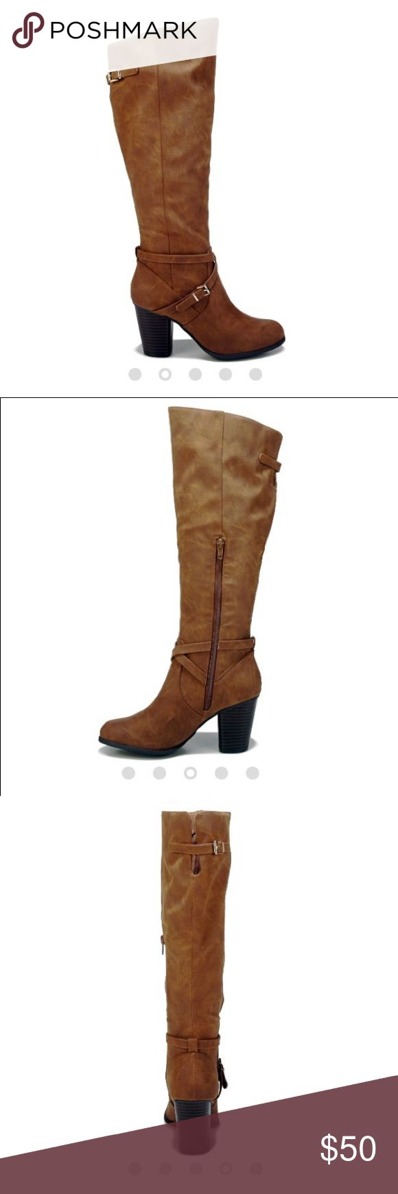 Madden Girl Tall Brown Boots Tall brown suede boots with heel never worn new in box Madden Girl Shoes Heeled Boots