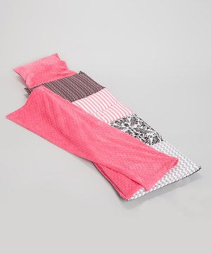 Look at this #zulilyfind! Black & Hot Pink Hollywood Quilted Nap Mat by Janiebee #zulilyfinds