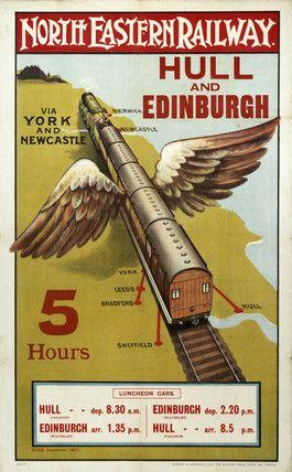 Hull and Edinburgh Railway Poster