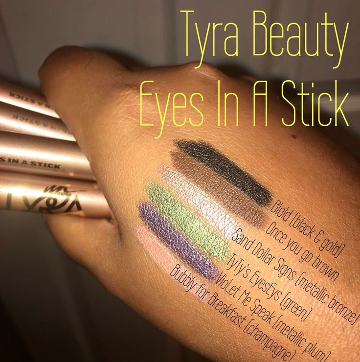 Tyra Beauty new Eyes In A Stick shades. www.tyra.com/sherriscosmeticsefx