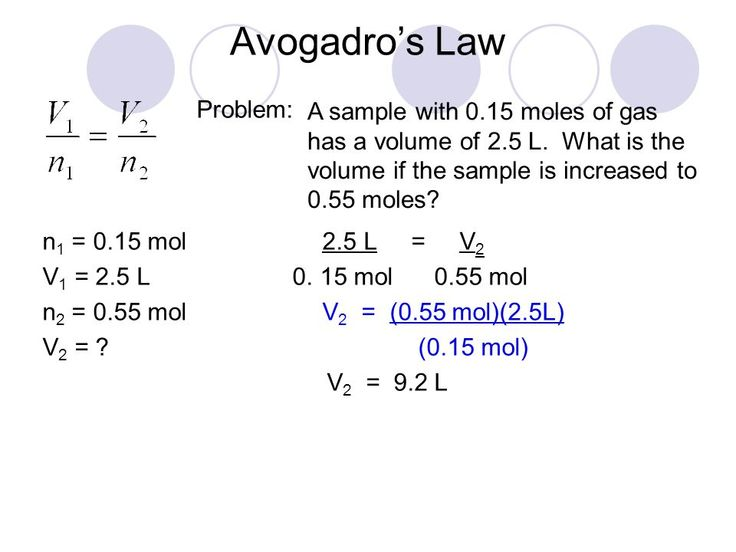 Image result for avogadro's law practice problems