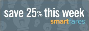 SMARTFARES! Save 25% off AMTRAK fares every week by purchasing your ticket Tues-Fri. for travel 1 to 2 weeks later.