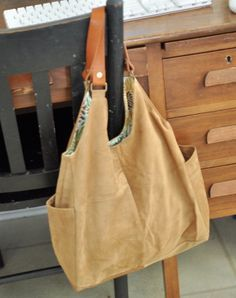 Suede Bag Made from Repurposed Suede Jacket and DIY Tote Bag Tutorials - Tidy Tangle
